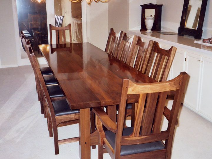 Charmant Branch Hill Joinery: Custom Walnut 11 Trestle Table. Amish Extension Tables  Feature Solid Wood Slides And Solid Brass Table Locks.
