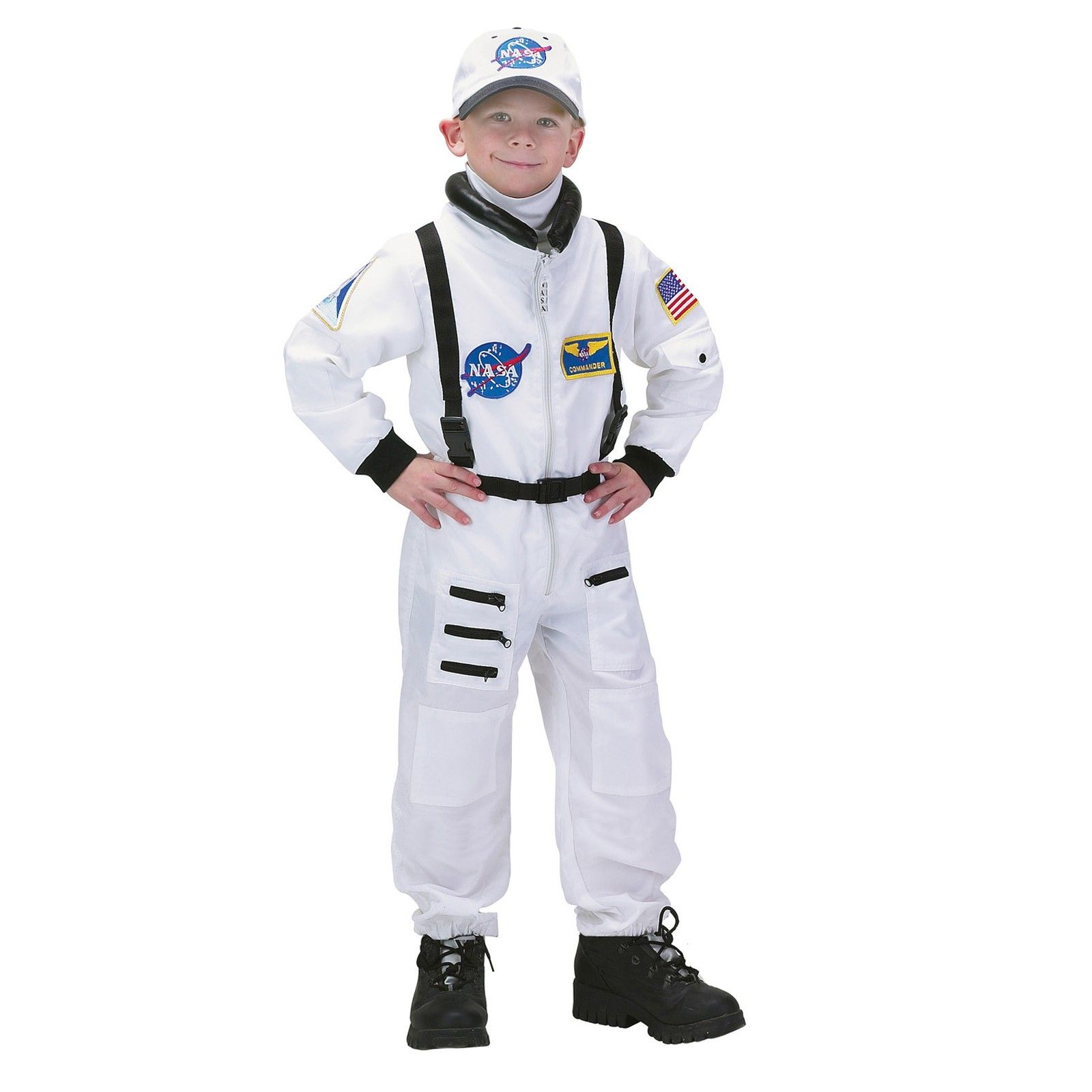 NASA Jr Astronaut Suit White Toddler Child Costume