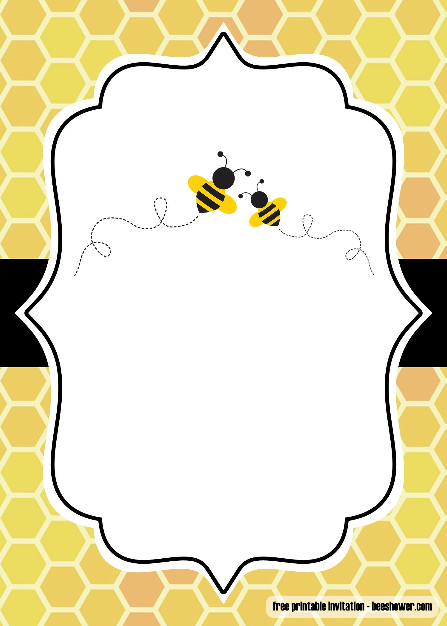 Free Printable Bumblebee Baby Shower Invitations Bagvania