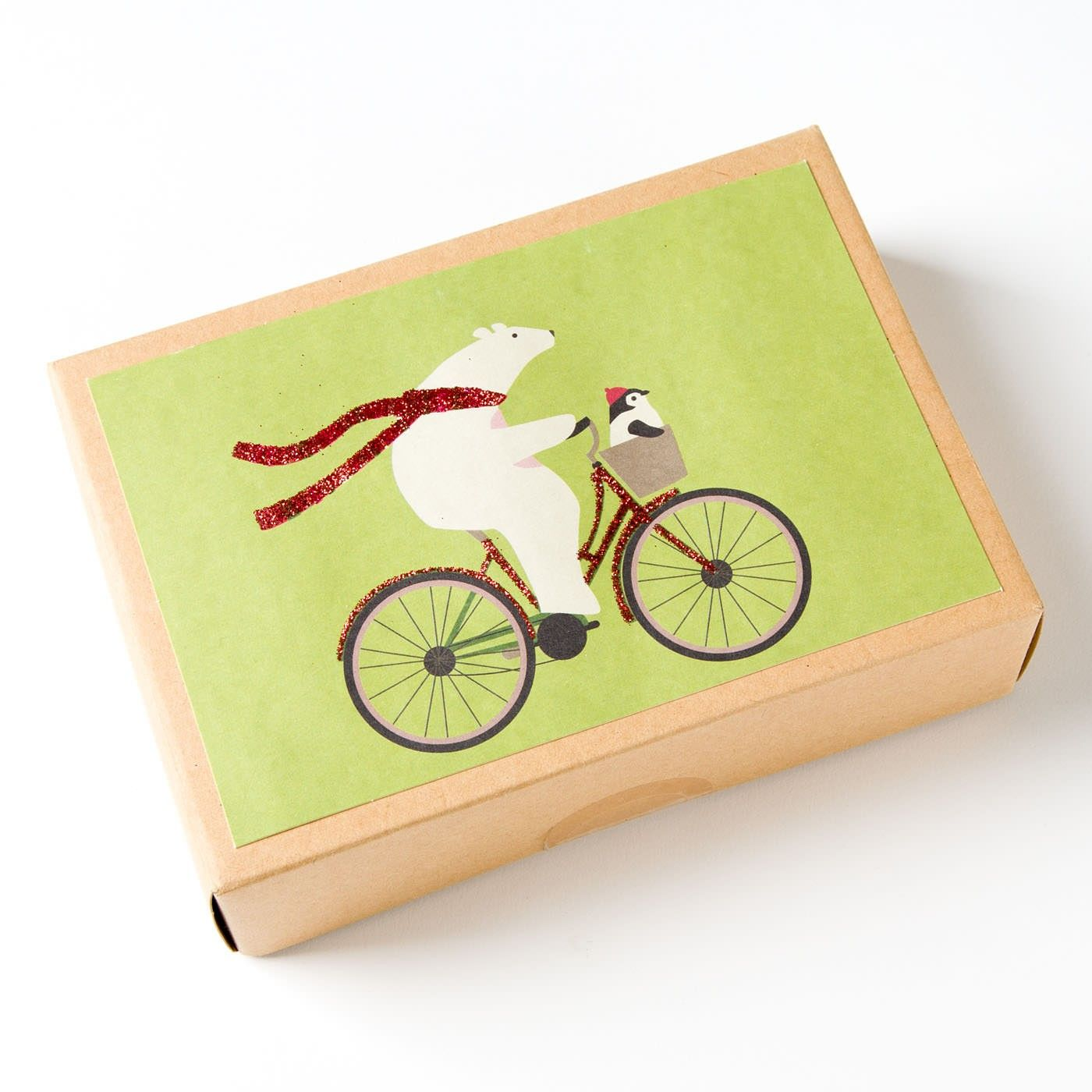 Polar Cycle Boxed Holiday Cards (Set of 15) Holiday