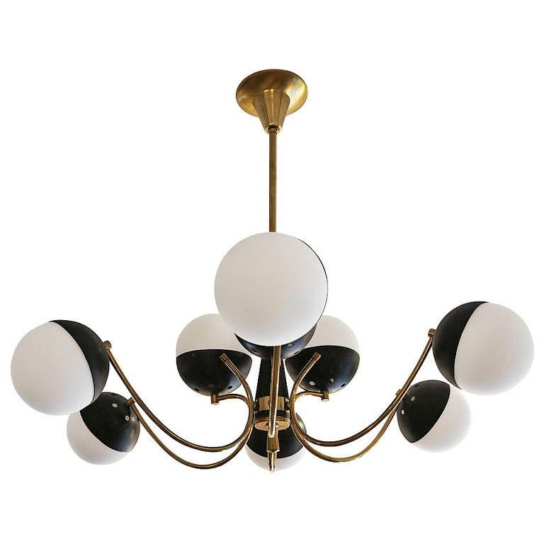 Playful Italian Mid Century Chandelier From A Unique Collection
