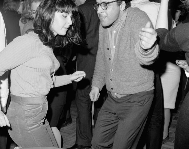 Dancing the night away at a disco in NYC, NY 1965.
