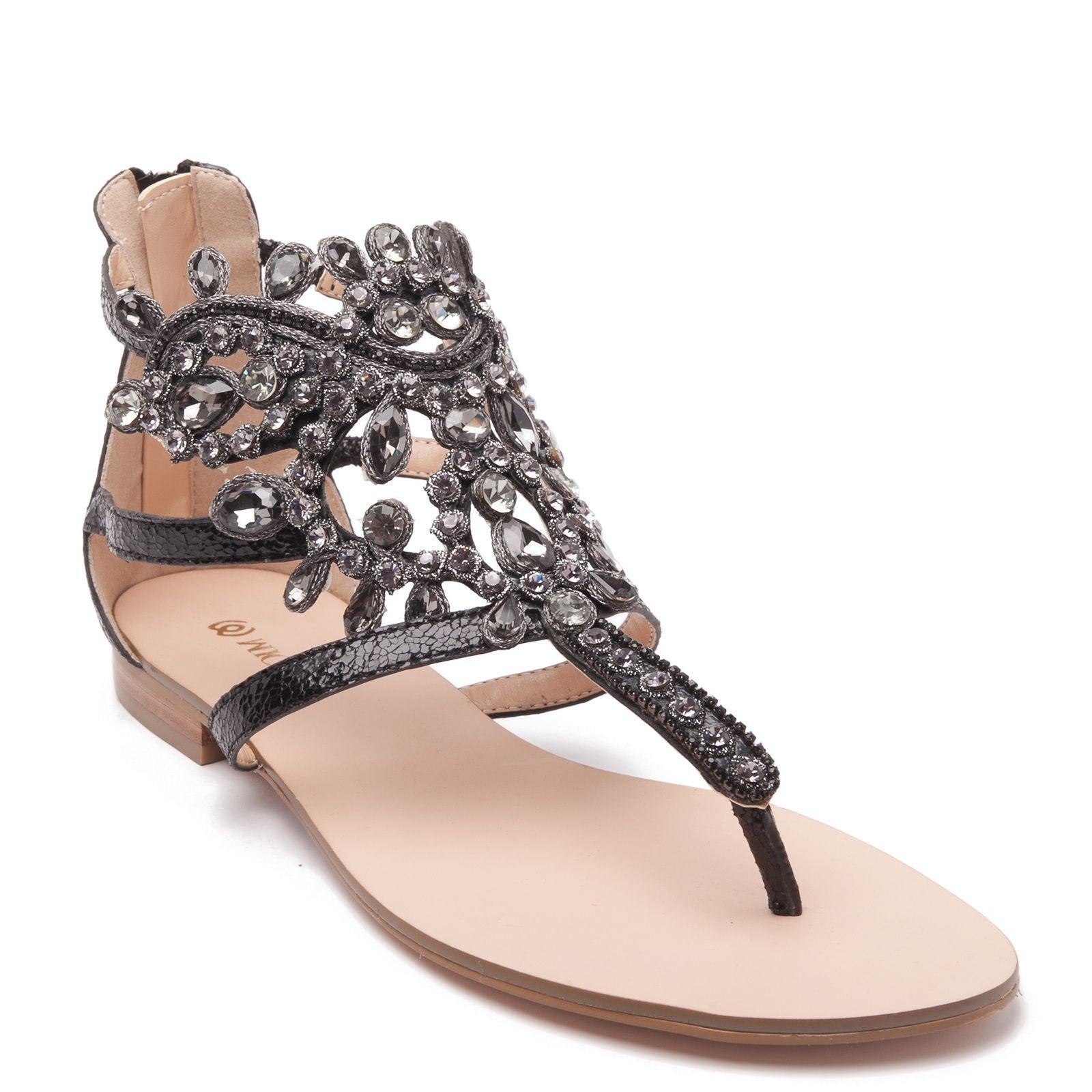 Black sandals rhinestones - Sandal With Black Rhinestones