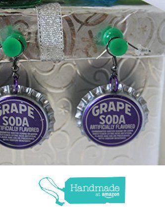Grape Soda Upcycled Bottlecap Earrings from Southern Women Crafts https://www.amazon.com/dp/B01M9CDEH9/ref=hnd_sw_r_pi_dp_hfTbybPJH9G3R #handmadeatamazon