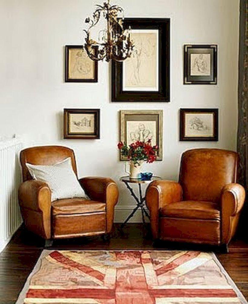 Rustic leather living room furniture design ideas 19 ...