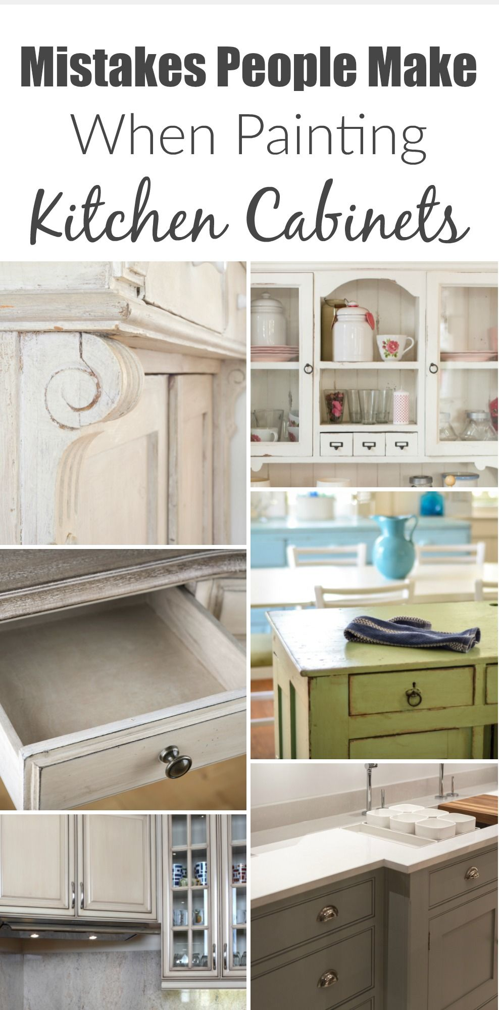 5 Mistakes People Make When Painting Kitchen Cabinets Painted Furniture Ideas Painting Kitchen Cabinets Kitchen Renovation Cabinet