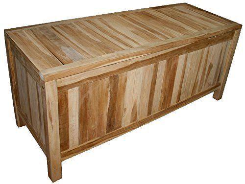 Kmh Teak Kissentruhe 130 Cm Auflagenbox Kissenbox Auflagentruhe Gartenmoebel Neu Kissentruhe Auflagenbox Kissenbox