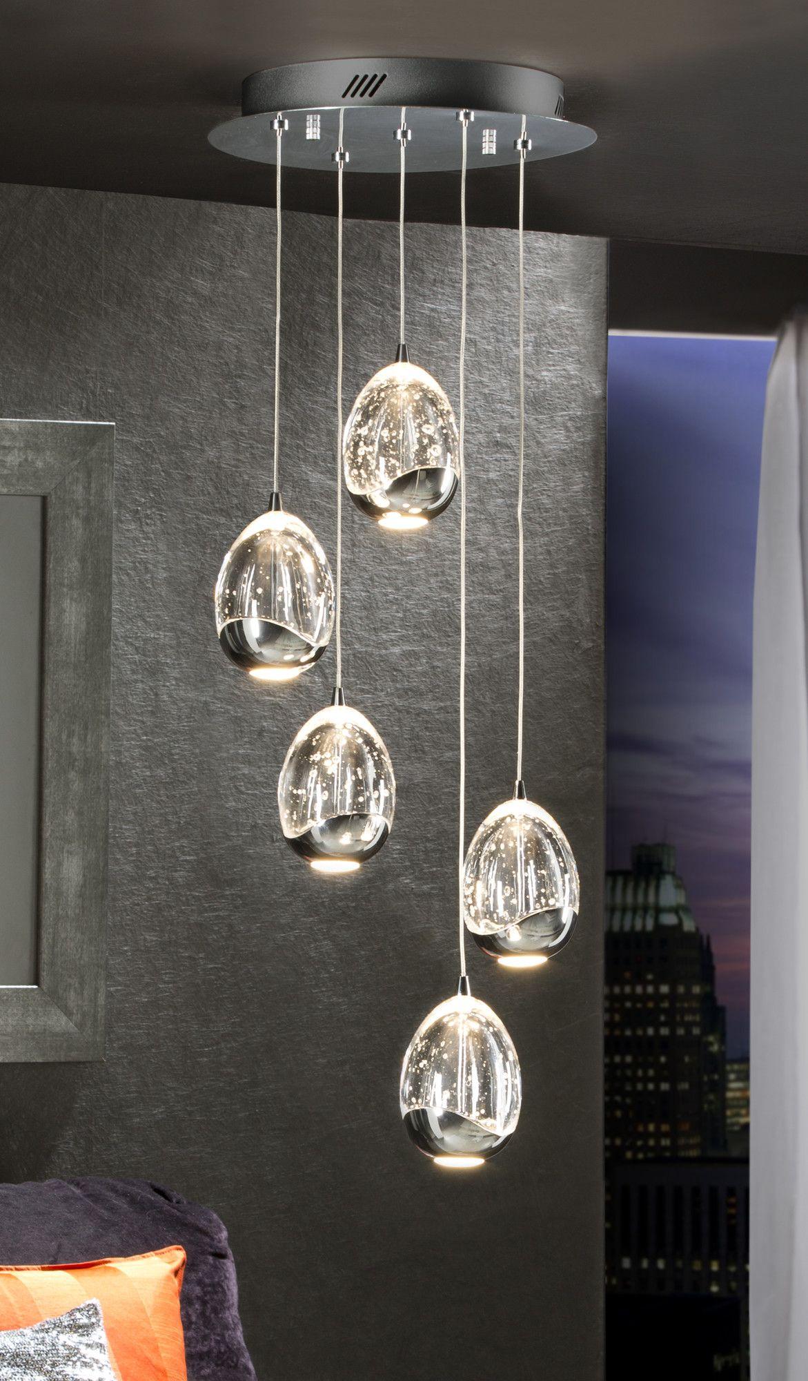 5 Rings LED Ceiling Light Fixture Crystal Chandelier Pendant Lights Lamparas De Techo Lustre Maison Modern Lighting for Living Room Bedroom Kitchen @