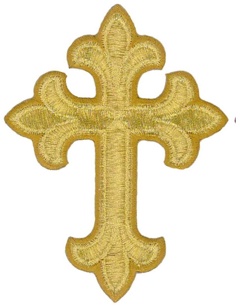 King J2883 Embroidered Gold Rayon Iron On Patch Crown W//5 Leaf Points