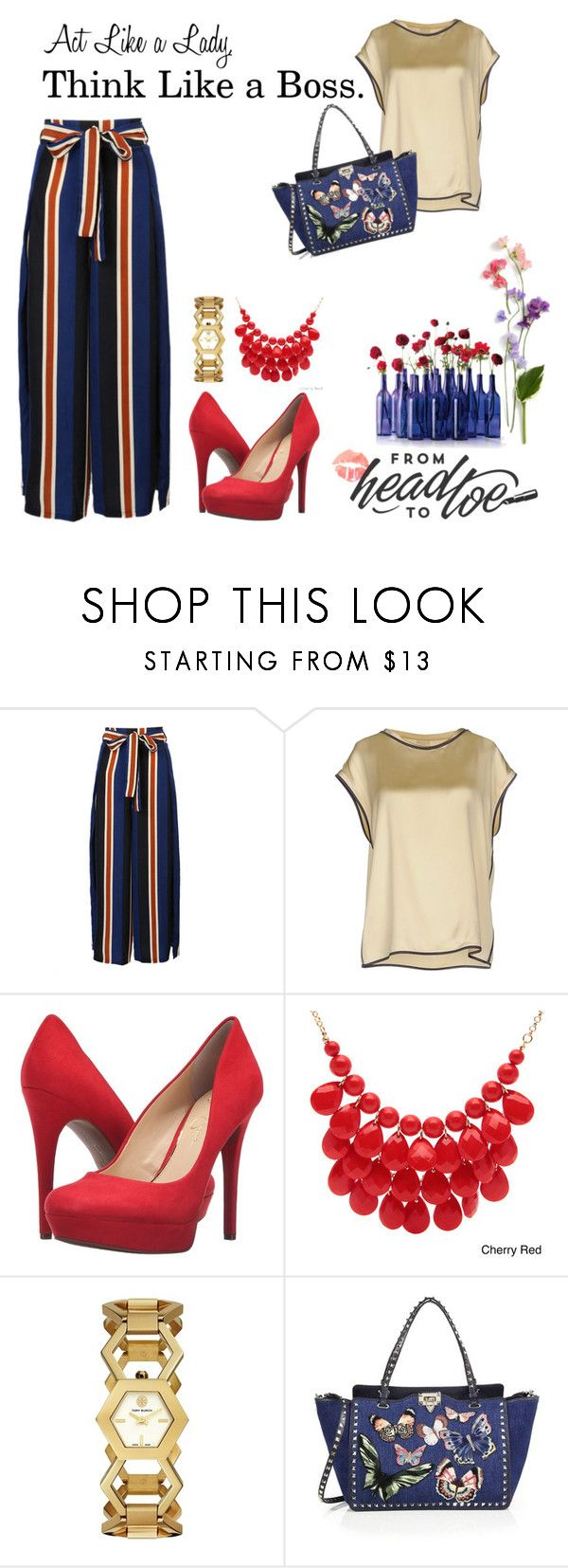 Positive Vibes by firdausiwidya on Polyvore featuring Brunello Cucinelli, WithChic, Jessica Simpson, Valentino, Tory Burch and Alexa Starr