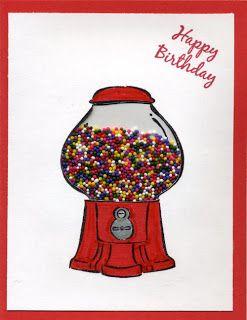 cupcake sprinkles for gumballs in a small ziplock baggie.