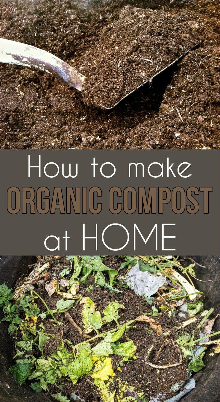 How To Make Organic Compost At Home - Gardaholic.net | Organic ...