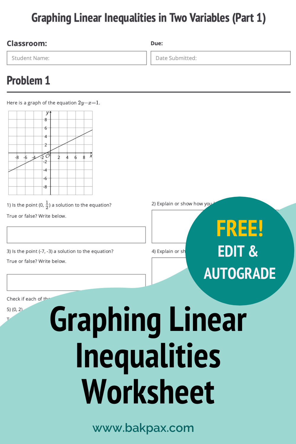 Free Graphing Linear Inequalities in Two Variables