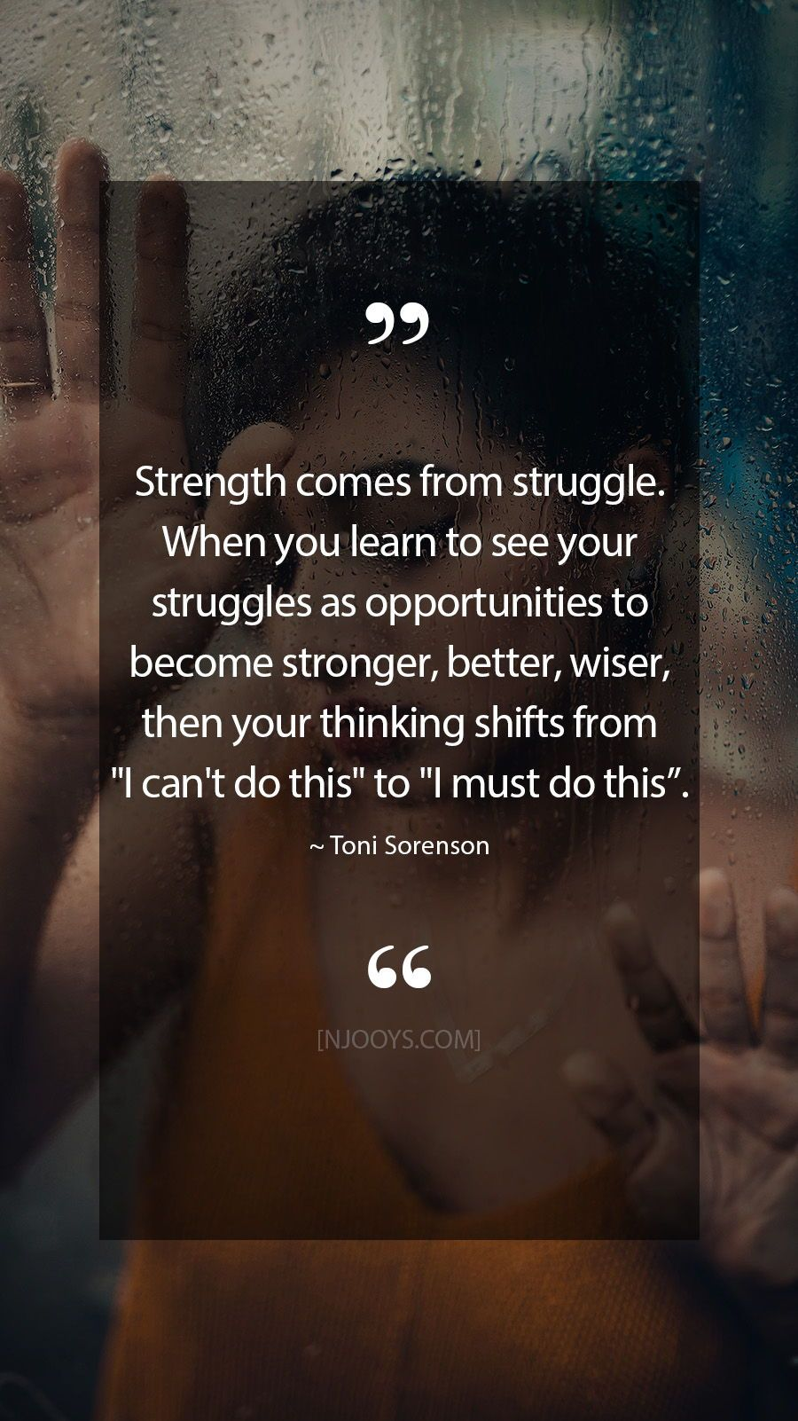 Toni Sorenson Quotes Strength Comes From Struggle When You Learn