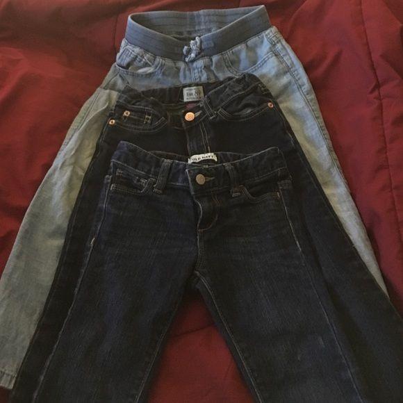Girls Jeans Girls jeans bundle. 3 pair. Capri, boyfriend and boot cut. Size 5/6 girls (age 4-6). Excellent condition! GAP Jeans Boot Cut