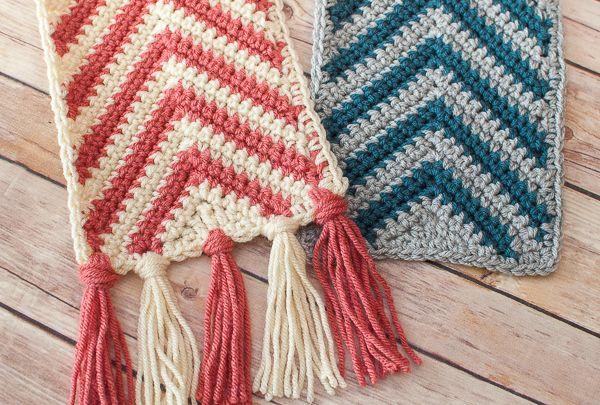 Chevron Ripple Scarf Crochet Pattern Crochet Designs Pinterest