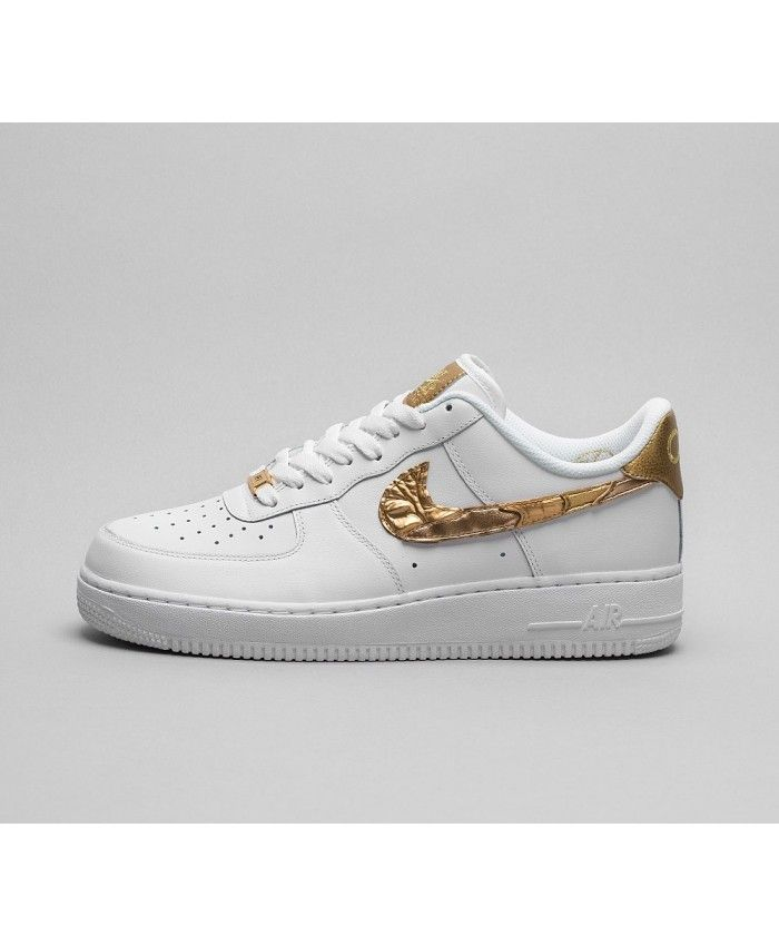 Nike Air Force 1 Chaussures Blanc Or Or Or nike air force 1 Pinterest 0886f2