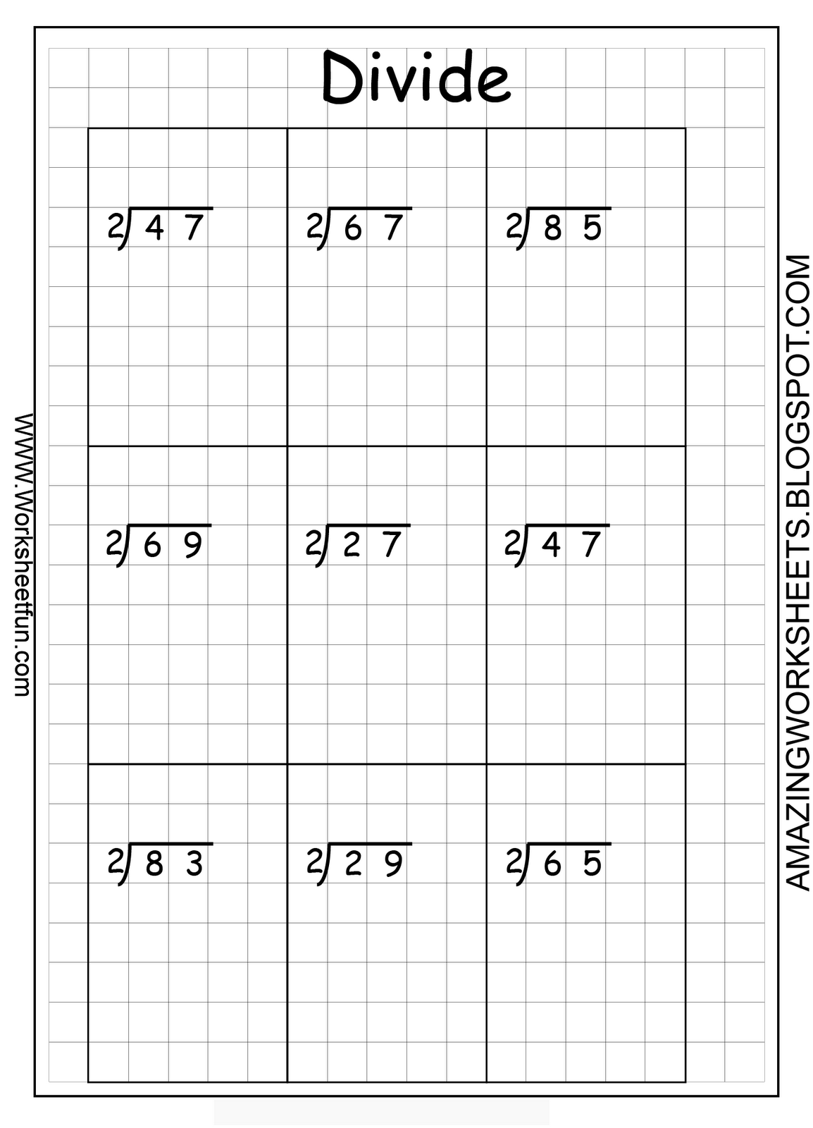 Fun Math Worksheet Divison