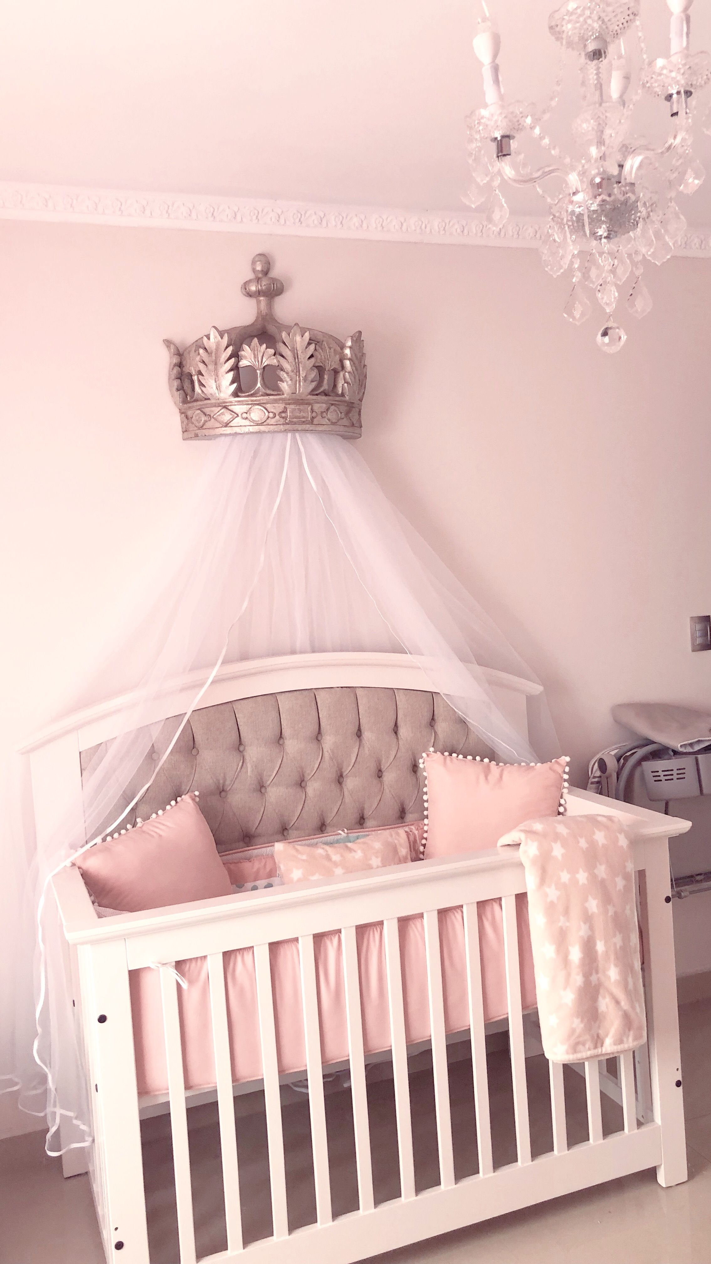 Crown canopy from restoration hardware, princess nursery