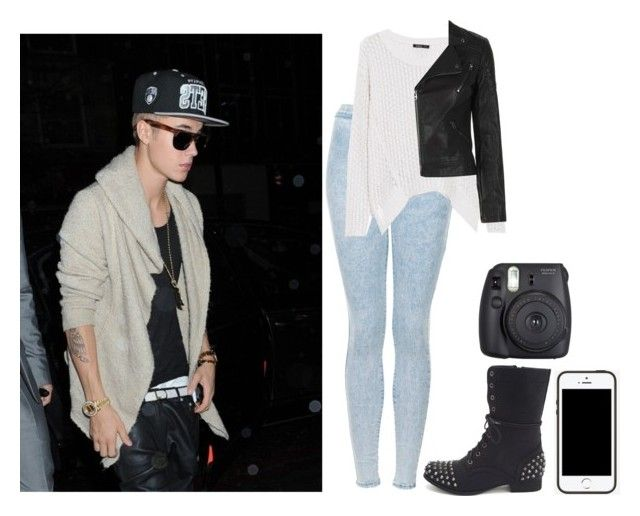 """Meeting fans w/ Justin"" by roquebae ❤ liked on Polyvore featuring Justin Bieber, Topshop, MANGO, Charlotte Russe and Fuji"