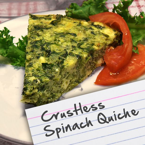Recipes for diabetes crustless spinach quiche food glorious food veggie side dishes recipes for diabetes crustless spinach quiche forumfinder Images
