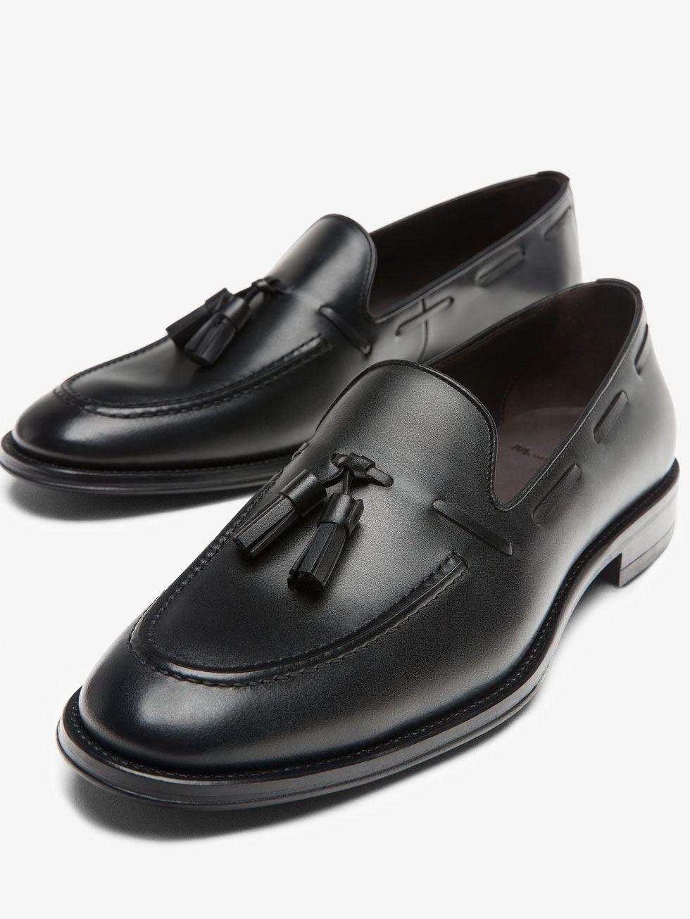 Hombre Charles Road Slip-On Cuero Negro 7 W (EE) fFXDFPK3