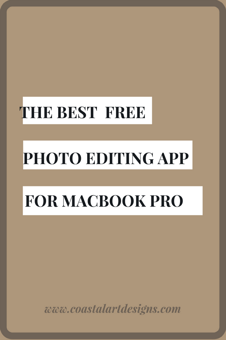 Picture editing software on macbook pro