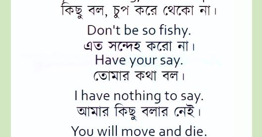 Nothing to say anything meaning in bengali