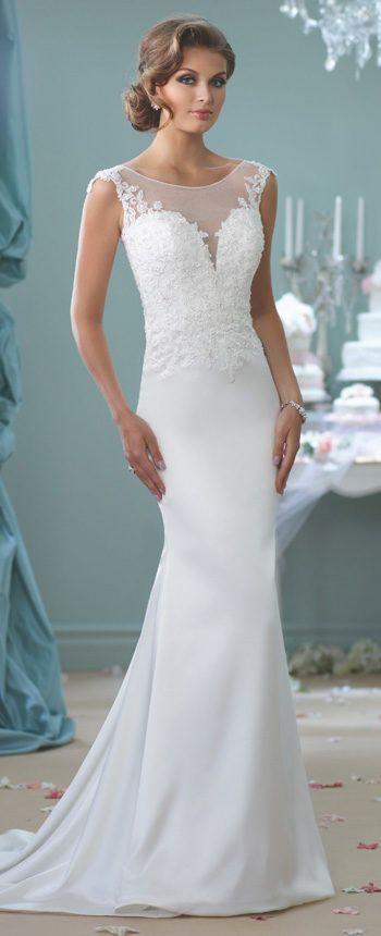 Modern Wedding Dresses 2018 by Mon Cheri | Bridal gowns, Whimsical ...