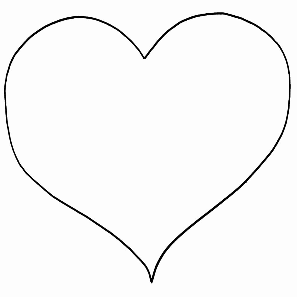 Printable Hearts in 2020   Shape coloring pages, Heart ...