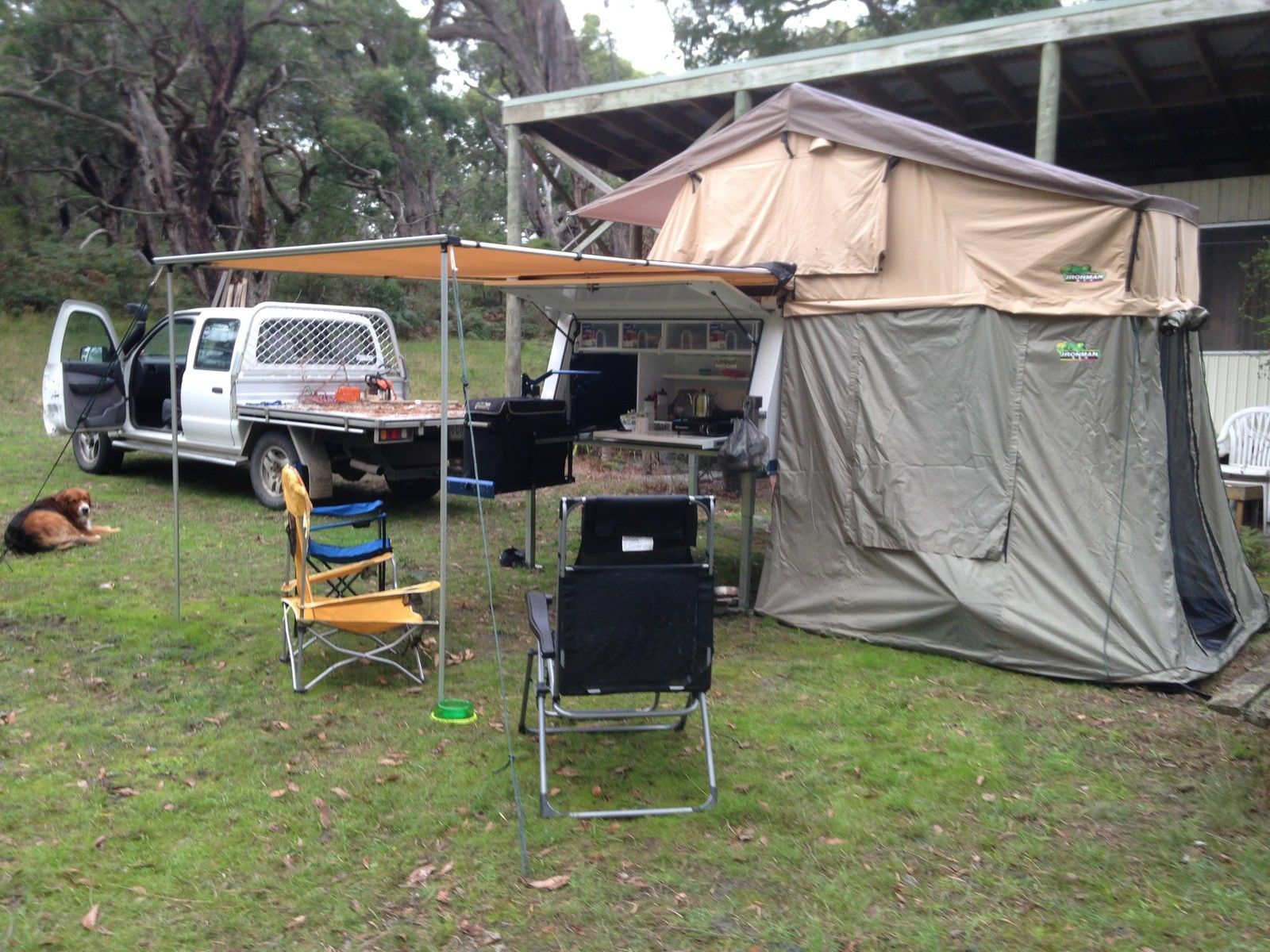 Utepod UTE POD Slide ON C&er With Roof TOP Tent Awning AND Annexe in Meeniyan : ute top tent - memphite.com