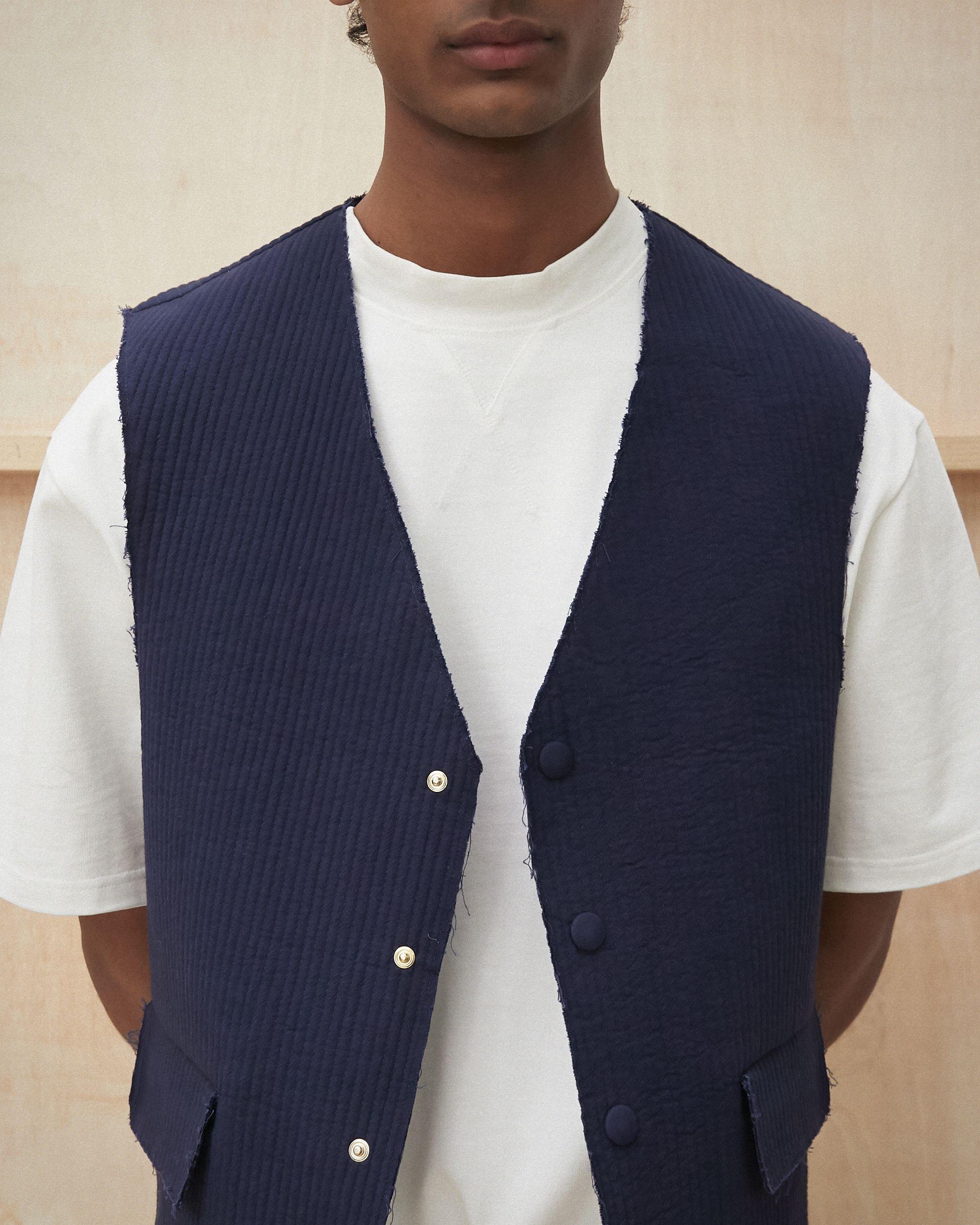 LESTER Quilted vest Navy €250 | Quilted vest, Menswear, Vest