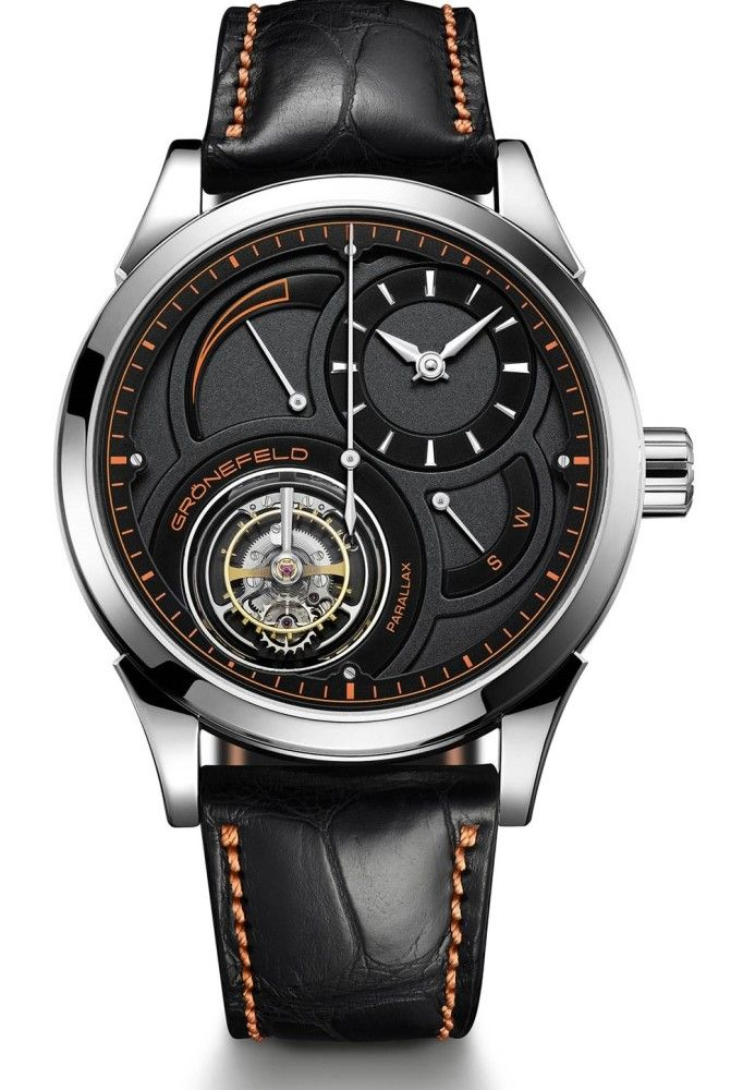 Gronefeld Parallax Tourbillon Platinum Unique Piece black and orange - Perpetuelle