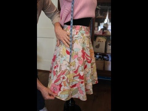 How To Take In The Waist And Sides Of A Skirt With A Lining This