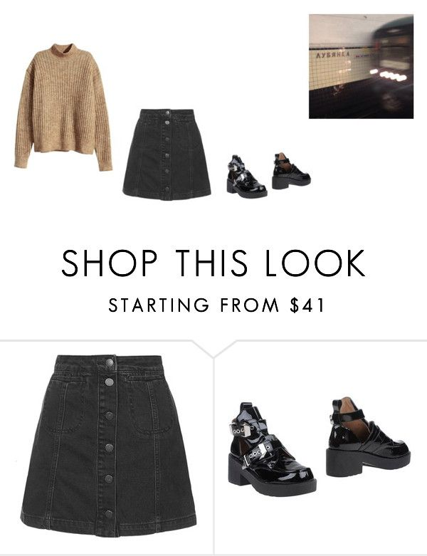 """taking you there"" by jungcockk ❤ liked on Polyvore featuring Topshop, Jeffrey Campbell and H&M"