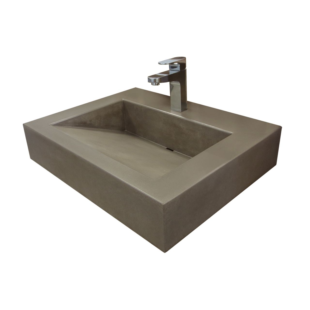 Ud Floating ADA Custom Concrete Bathroom Sink Trueform bathroom