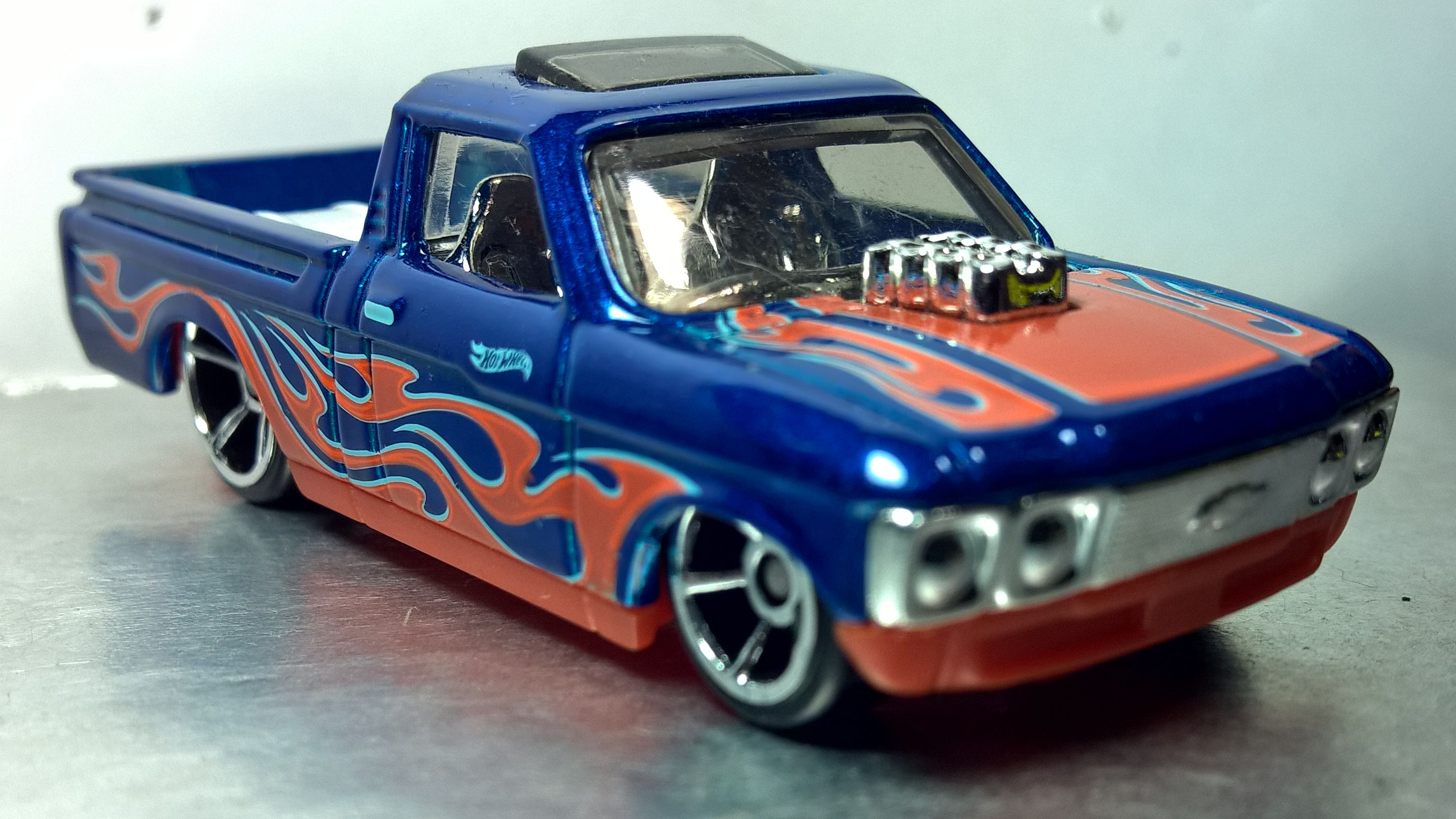 Hot Wheels Custom 72 Chevy Luv Hw Flames 2017 Custom Hot