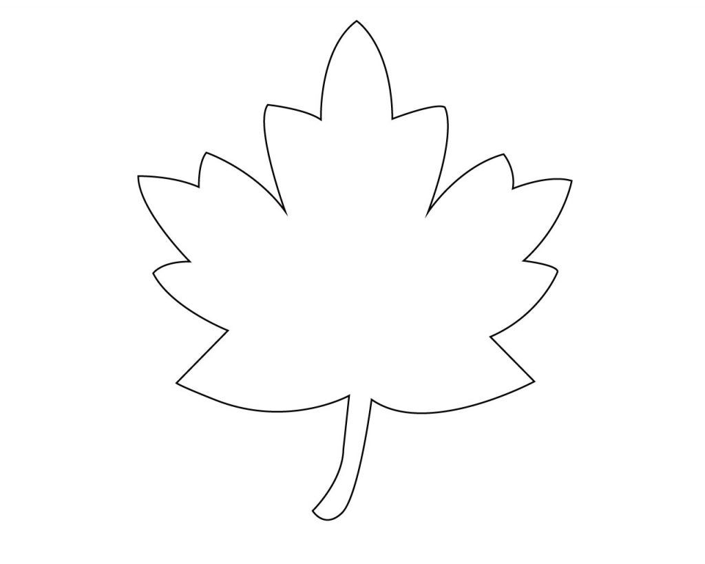 Maple Leaf Coloring Pages Leaf Coloring Page Free Coloring