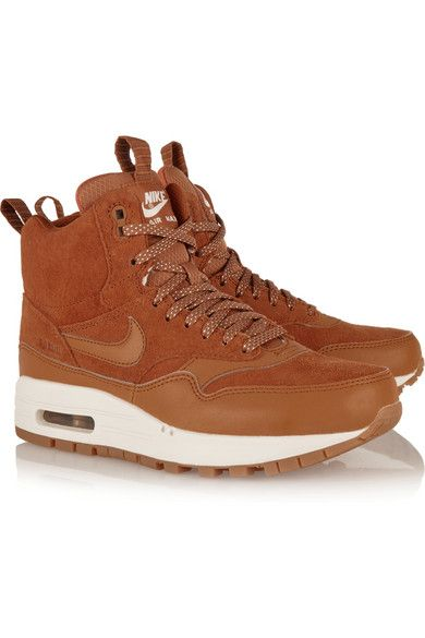 Nike Air Max 1 suede and leather high top sneakers | SHOES