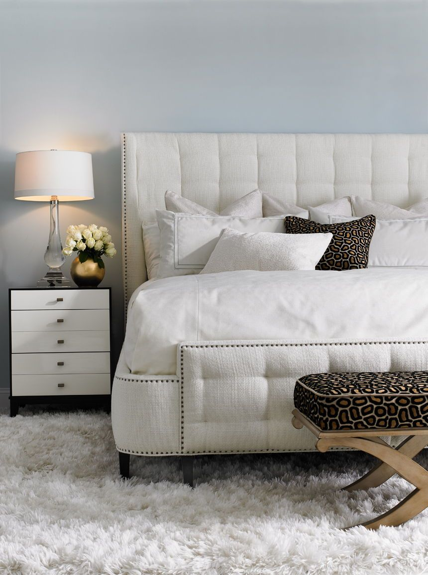 High End Bedroom Furniture in Montreal White headboard