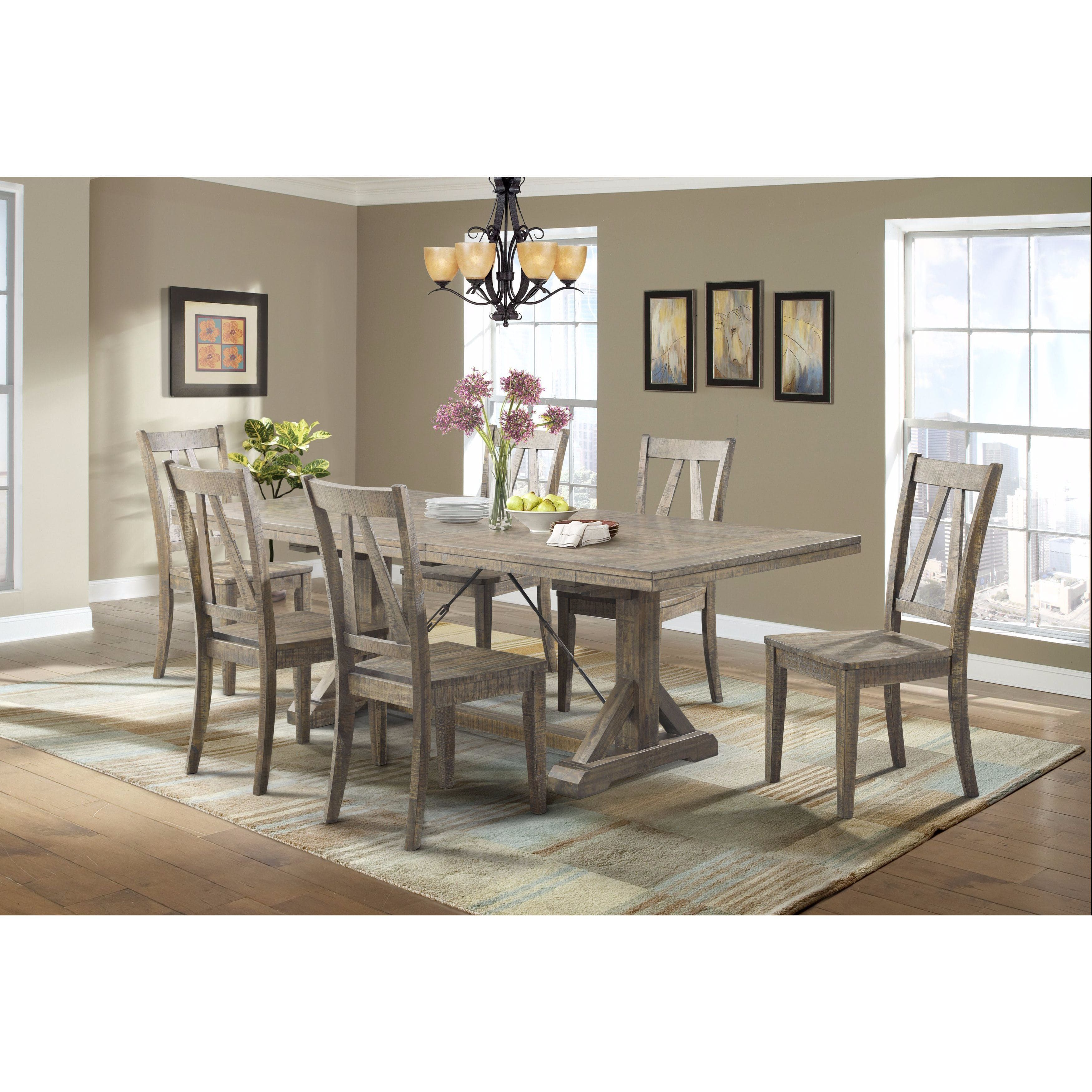 Picket House Furnishings Flynn 7PC Dining Set Table U0026 6 Wooden Dining  Chairs | Overstock
