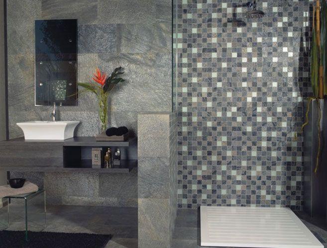 Le carrelage dans la salle de bains | Carrelage, Salle de bains et ...