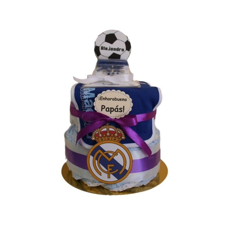 Tarta De Panales Real Madrid La Cestita Del Bebe Tarta De