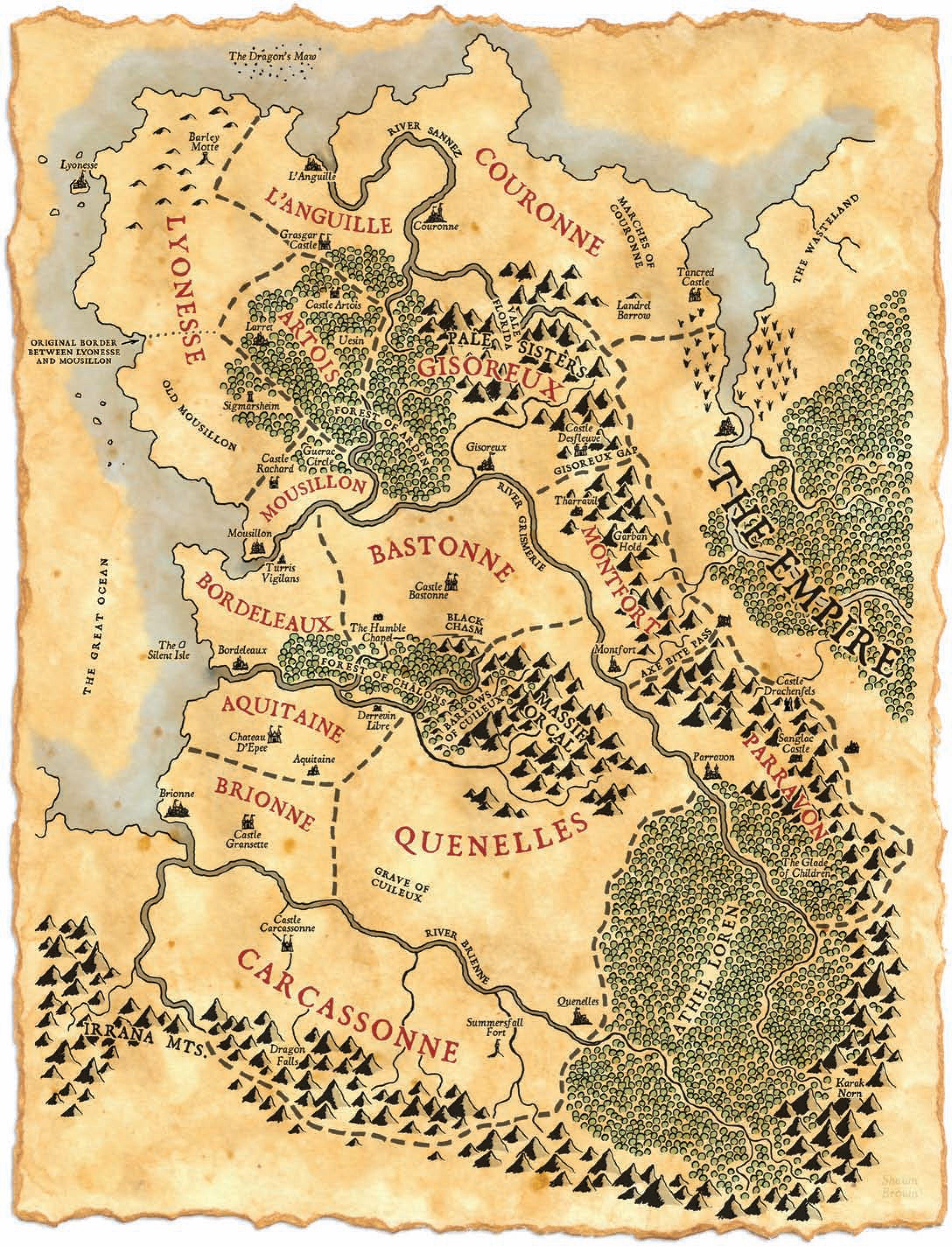 Warhammer Maps Fantasie Karte Fantasie Weltkarte Kartenkunst