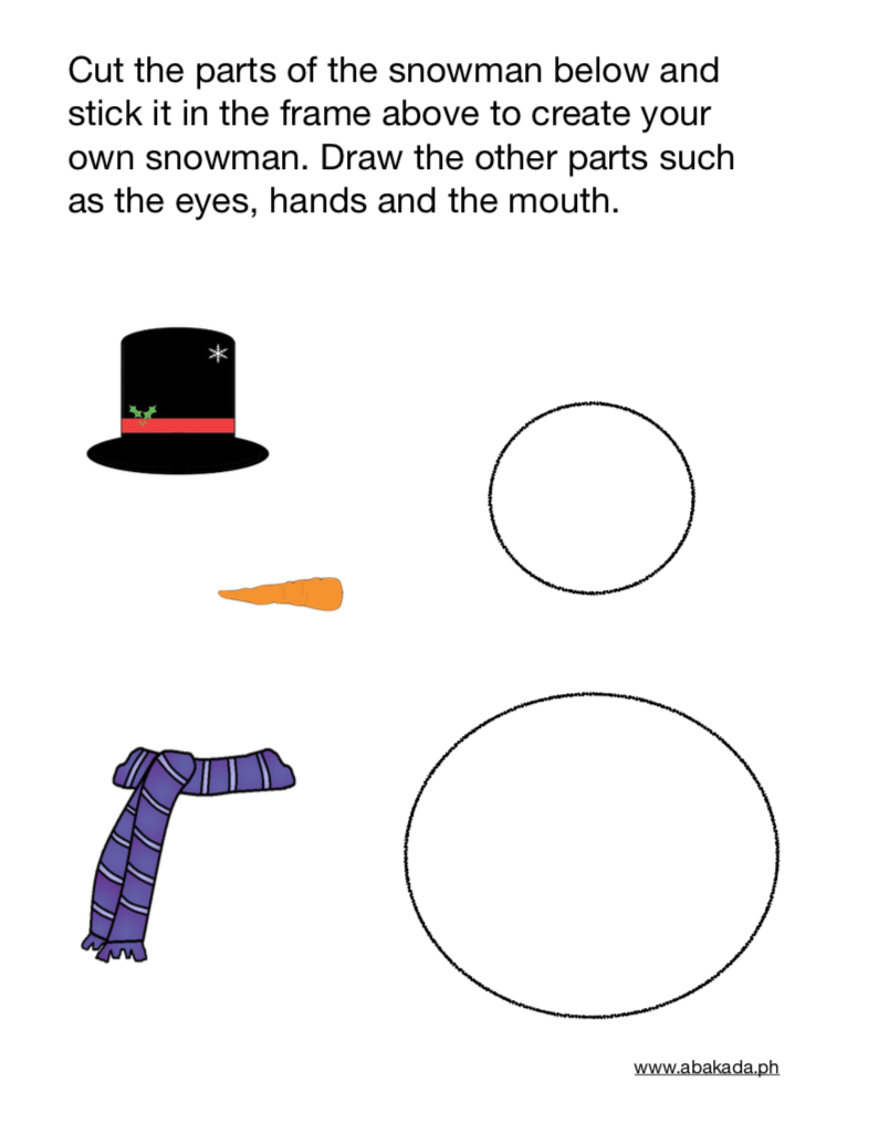 Make Your Own Snowman Holiday Worksheets Preschool Worksheets Preschool [ 1018 x 786 Pixel ]