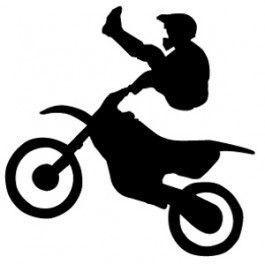 Motocross Dirtbike Female Girl Rider Sport Silhouette Car Tablet Vinyl Decal
