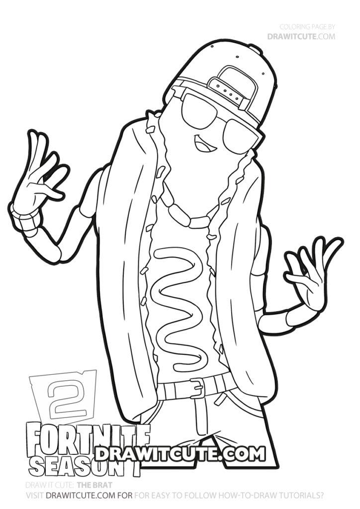 How To Draw The Brat Fortnite Chapter 2 Draw It Cute Fortnitebattleroyale Fortni Free Kids Coloring Pages Coloring Pages For Boys Coloring Pages For Kids
