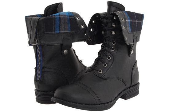 Black Combat Boots Girls - Yu Boots
