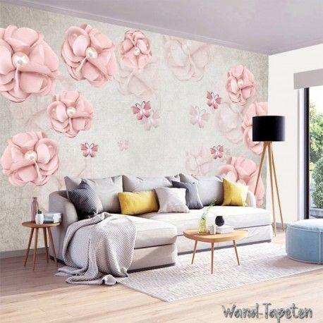 Vlies fototapeten - wandtapeten wandbilder bijouterie rosa blüten kn