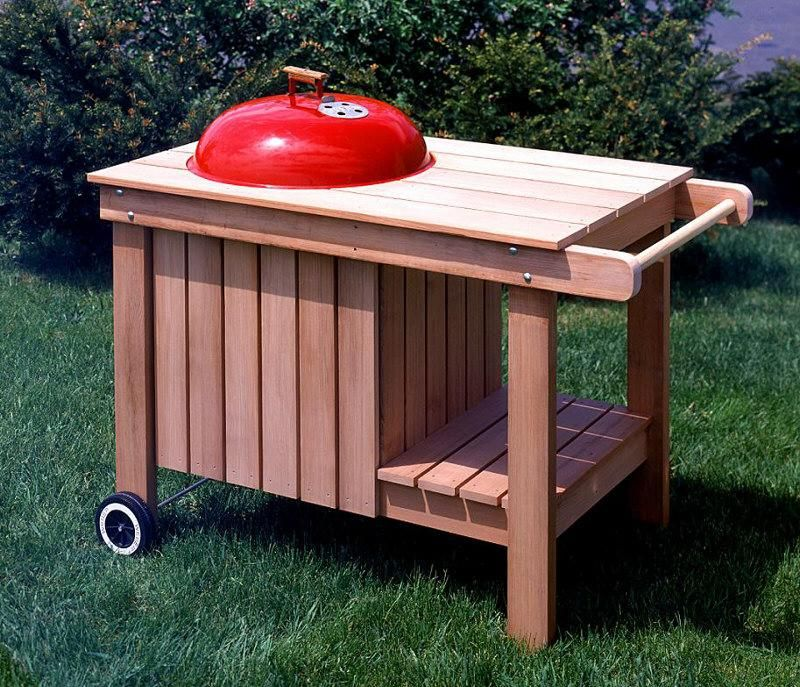 15 854 Kettle Grill Caddy Barbeque Pdf Woodworking Plan